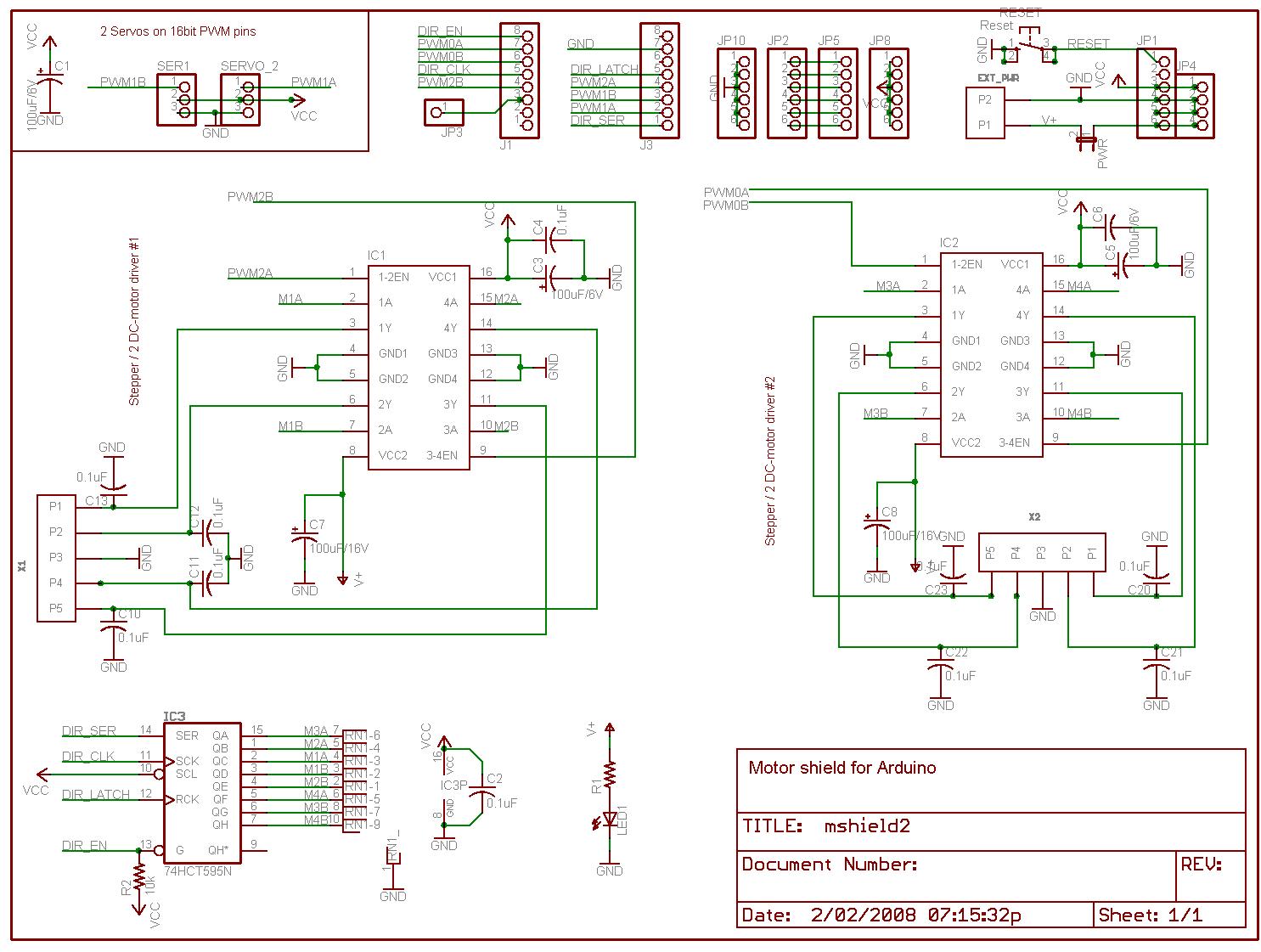 Motor Drive Shield For Arduino Elechouse