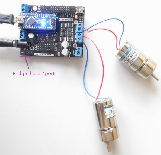 16a dual channel h bridge motor driver and servo driver