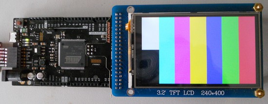 """3 2"""" TFT LCD and Shield for Arduino DUE, with SD & Touch"""