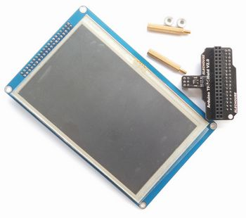 "5 0"" TFT LCD and Shield for Arduino DUE, with SD & Touch control"