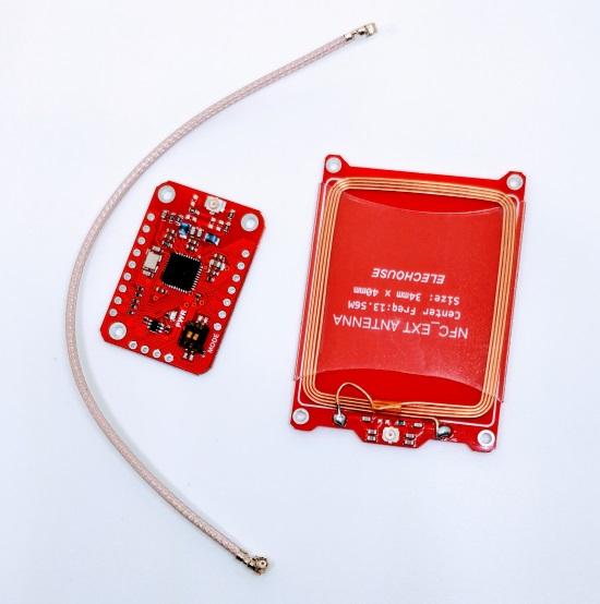 PN532 NFC RFID Module w/ External Antenna -- updated version